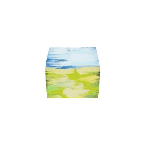 Green Blue Painting Nemesis Skirt (Model D02)