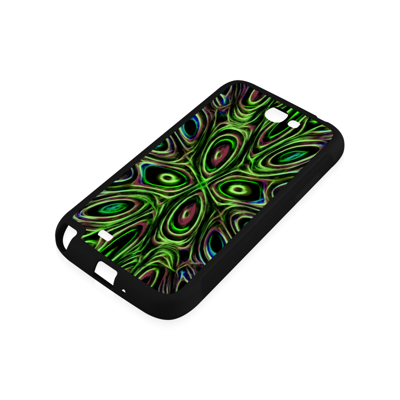 Peacock Strut III - Jera Nour Rubber Case for Samsung Galaxy Note 2