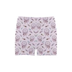 Beautiful Purple Bohemian Dreamcatcher Briseis Skinny Shorts (Model L04)