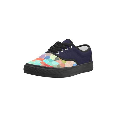 Colorful Mosaic Aries Women's Canvas Shoes (Model 029)
