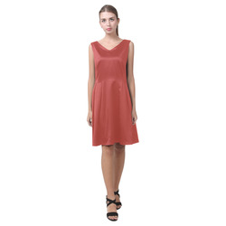 Aurora Red Chryseis Sleeveless Pleated Dress(Model D07)