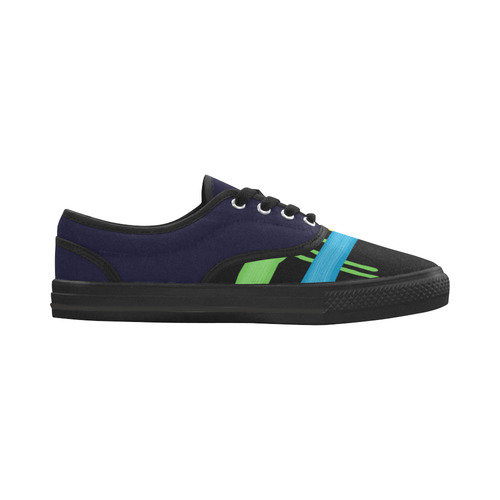 Rainbow Strokes of the Brush Aries Women's Canvas Shoes (Model 029)