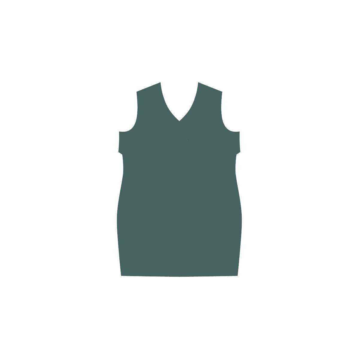 June Bug Green Phoebe Sleeveless V-Neck Dress (Model D09)