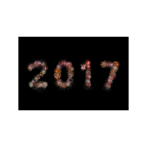 "New Year Fireworks 2017 Poster 20""x30"""