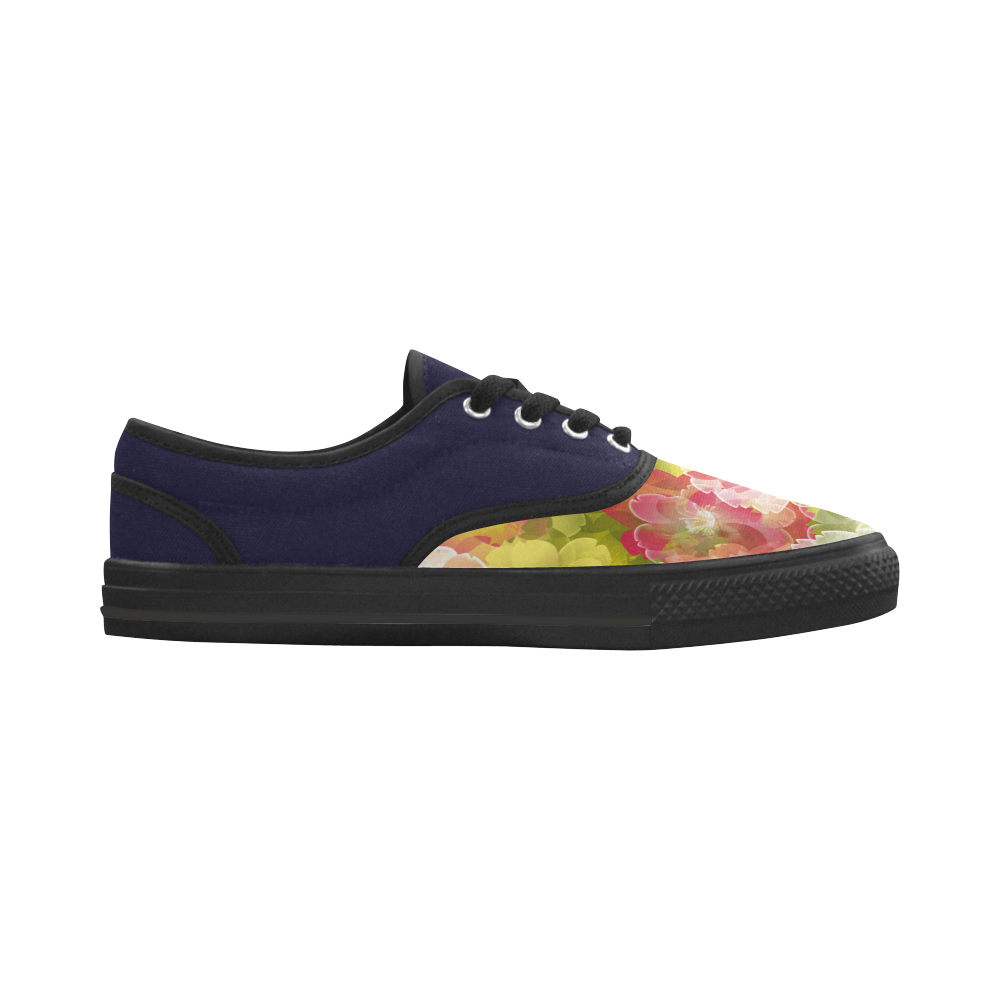Flower Power Blossom Aries Women's Canvas Shoes (Model 029)