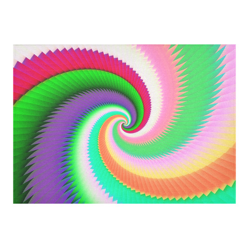 """Colorful Spiral Dragon Scales Cotton Linen Tablecloth 60""""x 84"""""""