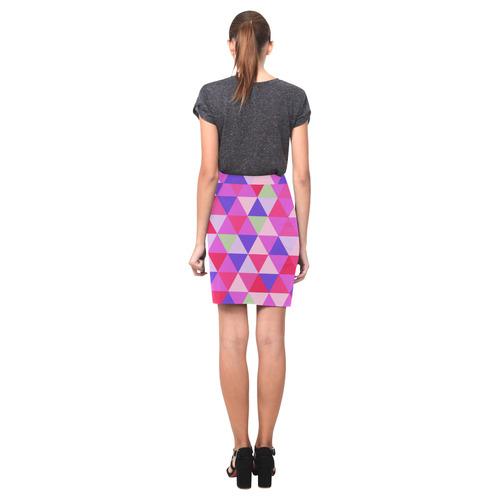Pink Geometric Triangle Pattern Nemesis Skirt (Model D02)
