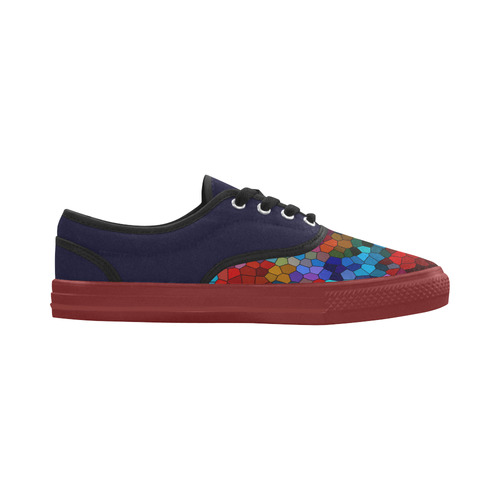 Colorful Mosaic Aries Women's Canvas Shoes (Model 029)