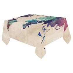 "world map Cotton Linen Tablecloth 52""x 70"""