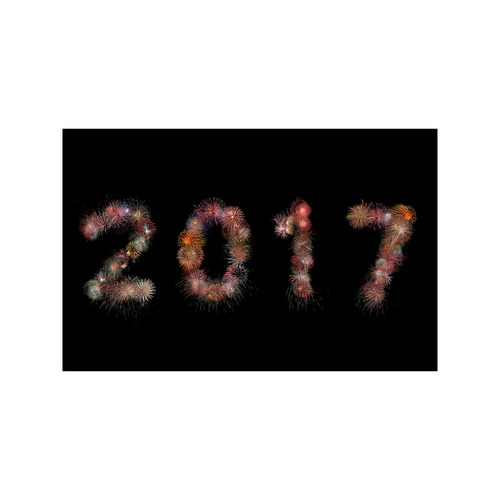 """New Year Fireworks 2017 Poster 11""""x17"""""""