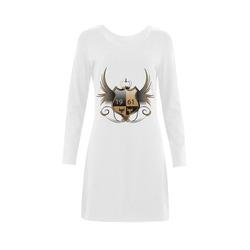 Shield with wings Demeter Long Sleeve Nightdress (Model D03)