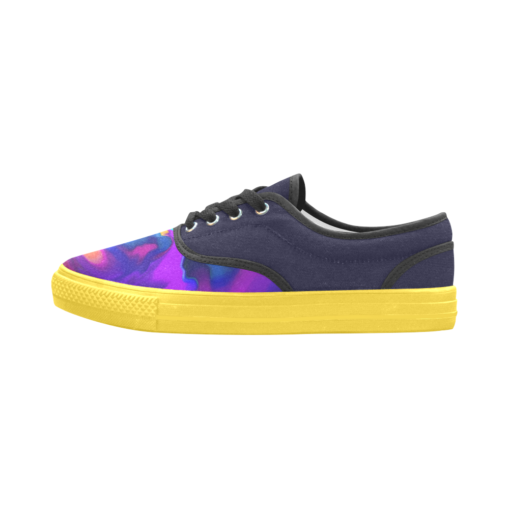 The PERFECT WAVE abstract multicolored Aries Men's Canvas Shoes (Model 029)