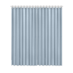 "Dusty Blue Window Curtain 52""x120""(Two Piece)"