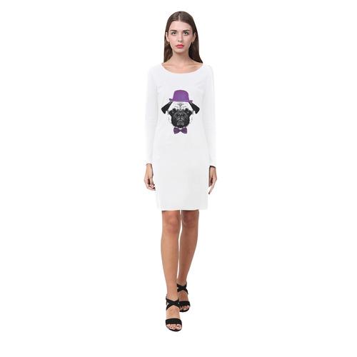 MOPS PUPPY FRENCH BULLDOG Demeter Long Sleeve Nightdress (Model D03)