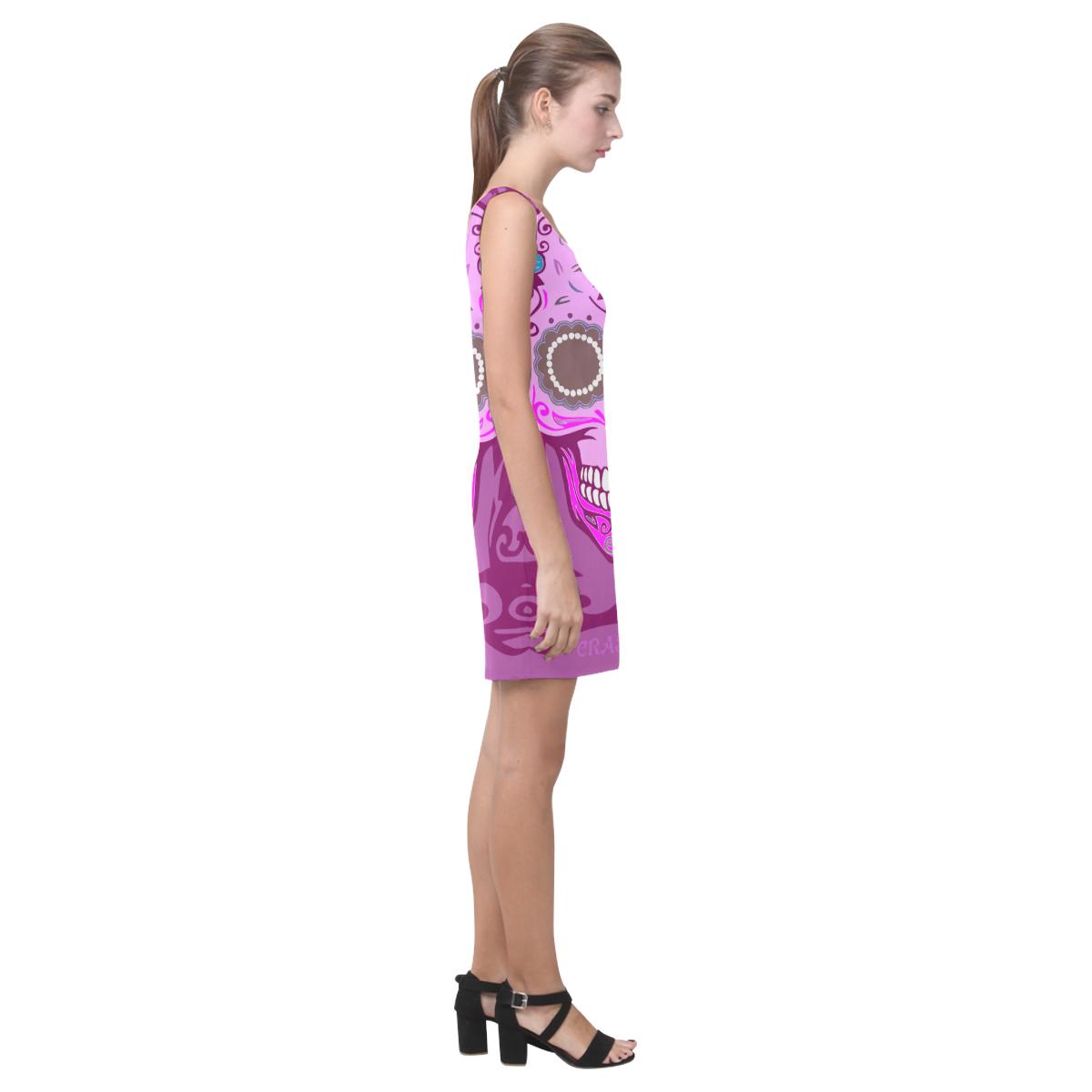 SKULL PINK IV Medea Vest Dress (Model D06)