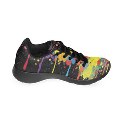 CRAZY multicolored double running SPLASHES Men's Running Shoes (Model 020)