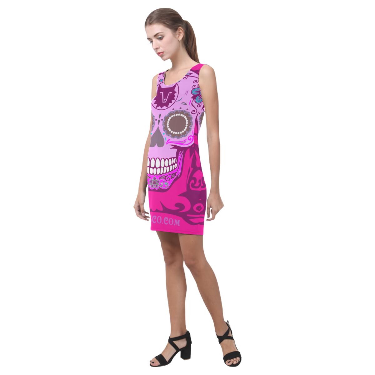 SKULL PINK II Medea Vest Dress (Model D06)