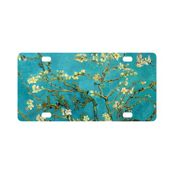 Vincent Van Gogh Blossoming Almond Tree Floral Art Classic License Plate