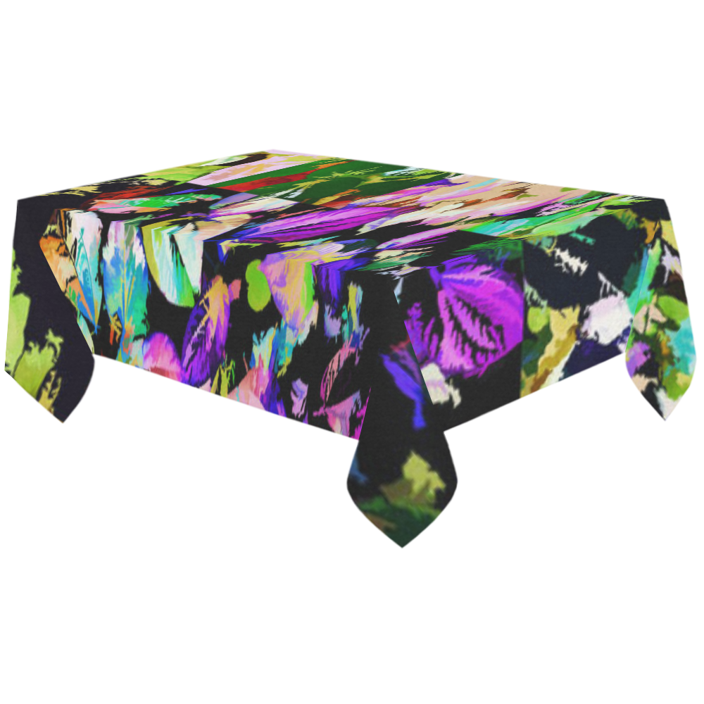 """Foliage Patchwork #14 - Jera Nour Cotton Linen Tablecloth 60""""x120"""""""