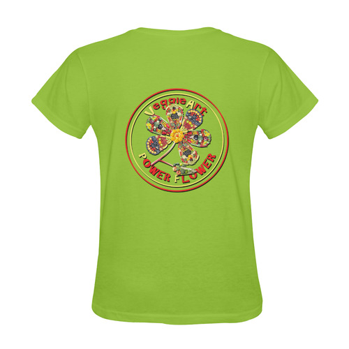 VeggieArt Power Flower Sunny Women's T-shirt (Model T05)