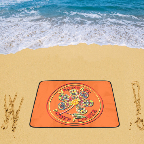 "VeggieArt Power Flower Beach Mat 78""x 60"""