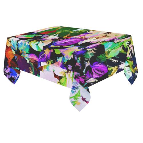 """Foliage Patchwork #14 - Jera Nour Cotton Linen Tablecloth 60""""x 84"""""""