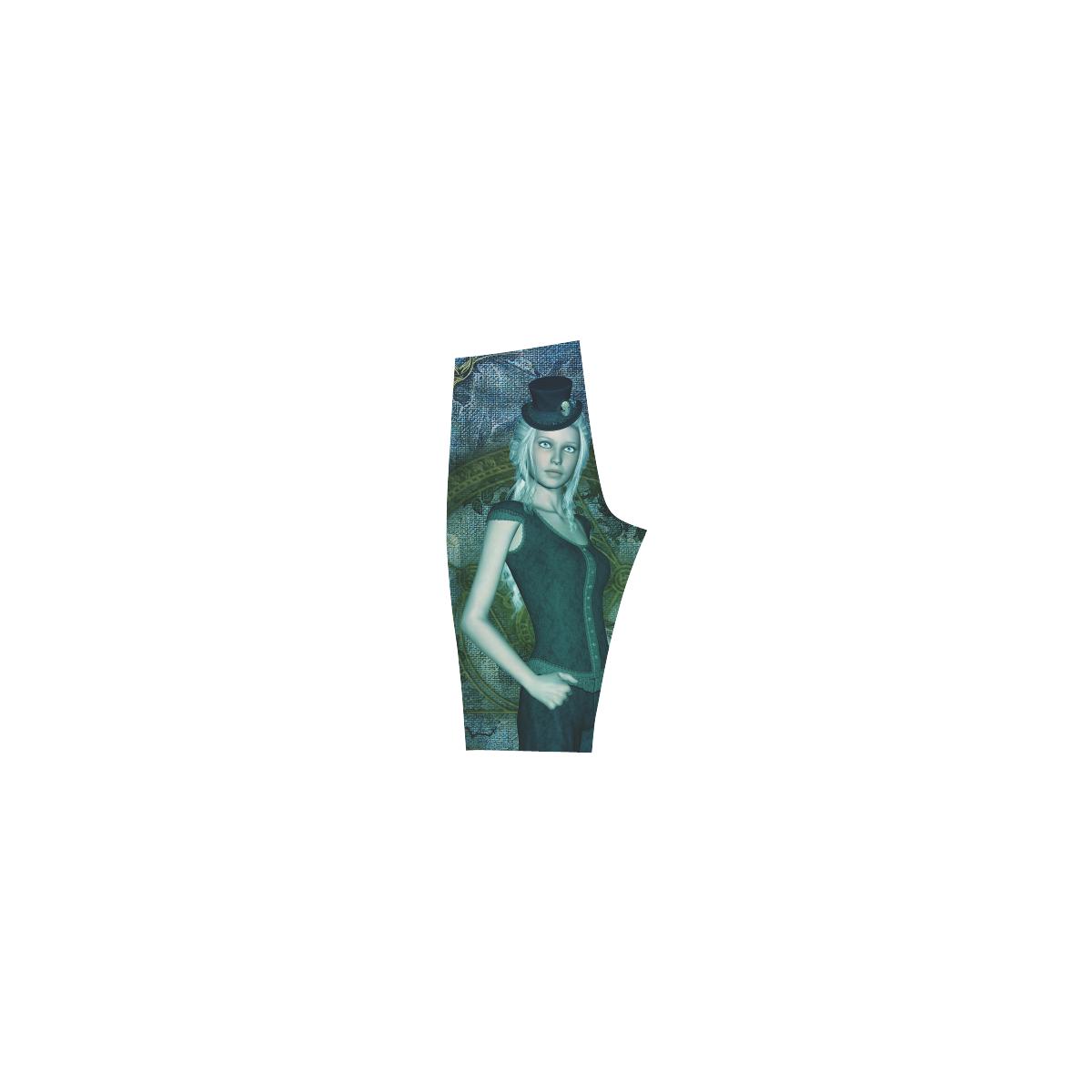 Victorian style, beautiful women Hestia Cropped Leggings (Model L03)