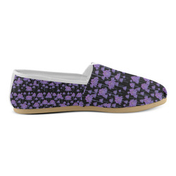 Palm Tree Motif Pattern Unisex Casual Shoes (Model 004)
