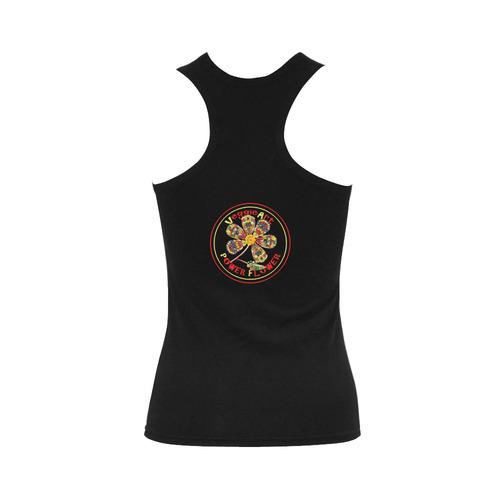 VeggieArt Power Flower Women's Shoulder-Free Tank Top (Model T35)