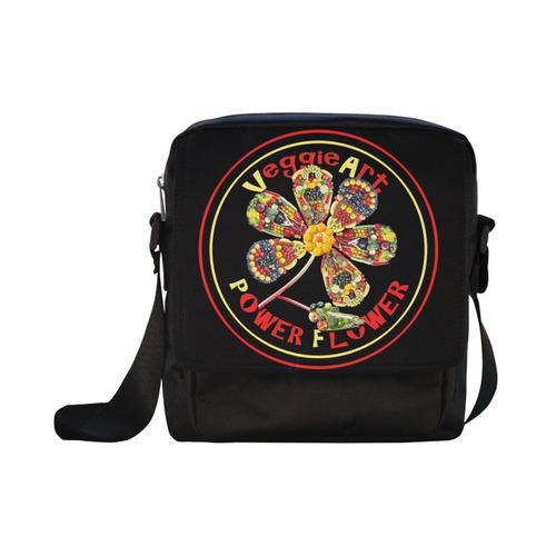 VeggieArt Power Flower Crossbody Nylon Bags (Model 1633)