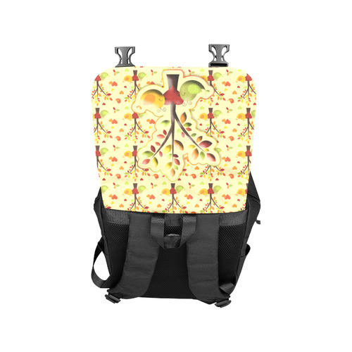 Autumn BIG LOVE Pattern TREEs, BIRDs and HEARTS Casual Shoulders Backpack (Model 1623)