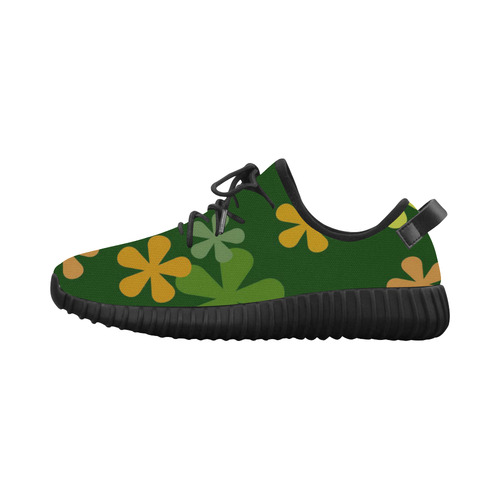 Citrus Retro Flowers Grus Women's Breathable Woven Running Shoes (Model 022)
