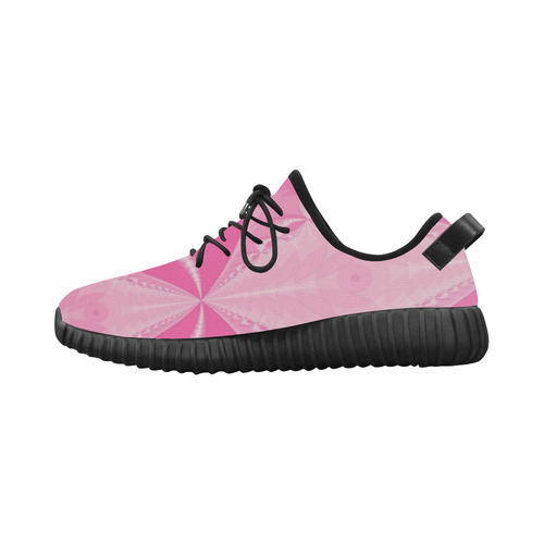 Pink Arrows Grus Women's Breathable Woven Running Shoes (Model 022)