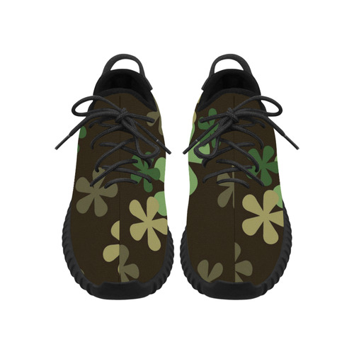 Camouflage Retro Flowers Grus Women's Breathable Woven Running Shoes (Model 022)