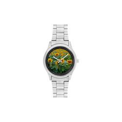 Sunflower Field Men's Stainless Steel Watch(Model 104)