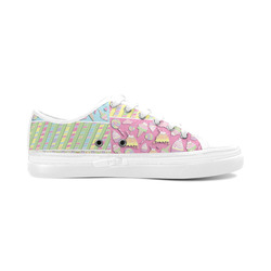 Candy, Cupcakes and Ice Cream Women's Canvas Zipper Shoes (Model 001)