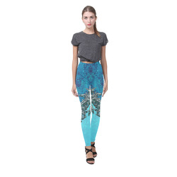 Vintage design with lion Cassandra Women's Leggings (Model L01)