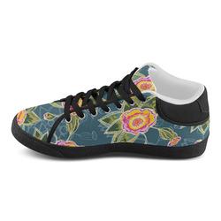 Floral Fantsy Pattern Men's Chukka Canvas Shoes (Model 003)
