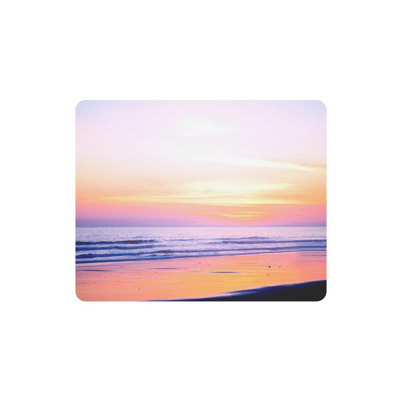 Sunshine Beach Scene, Summer, Sun, Holidays Rectangle Mousepad