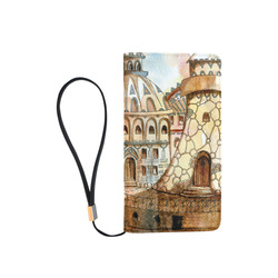 fantasy art steampunk city town drawing Men's Clutch Purse (Model 1638)
