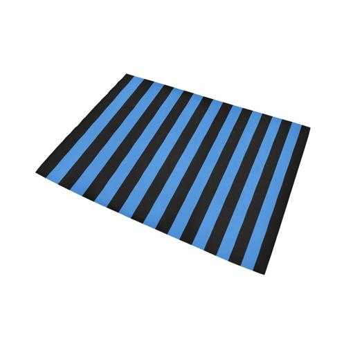 Black Stripes Area Rug7'x5'