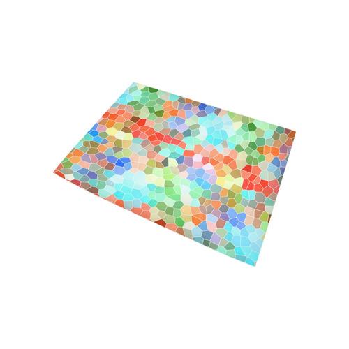Colorful Mosaic Area Rug 5'3''x4'