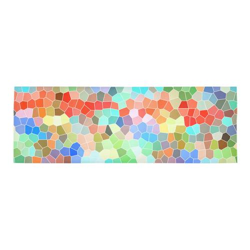Colorful Mosaic Area Rug 10'x3'3''