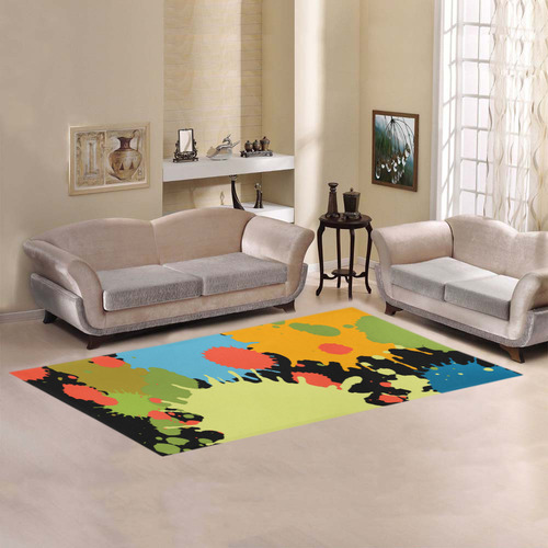 New Splash Design Area Rug 7'x3'3''