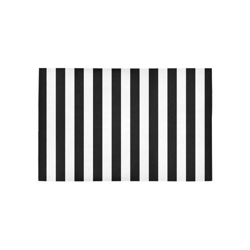 Black Stripes Area Rug 5'x3'3''