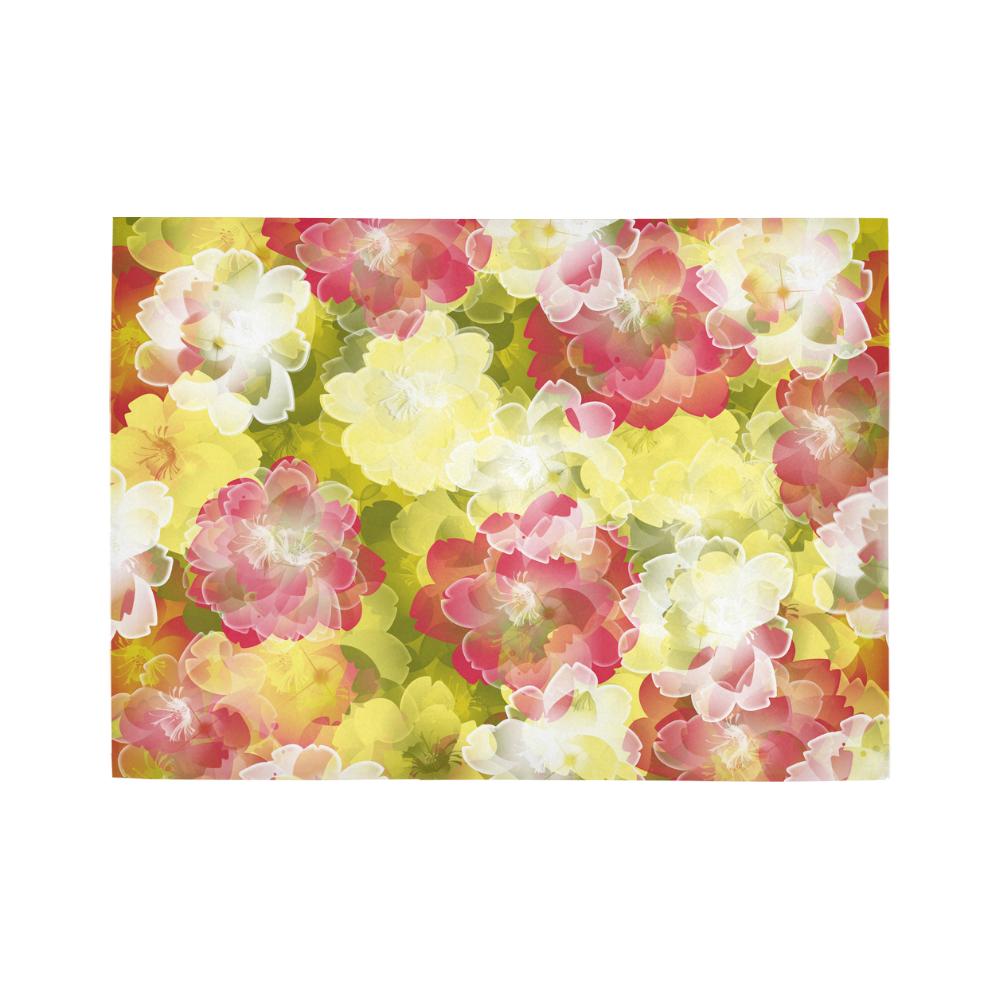 Flower Power Blossom Area Rug7'x5'