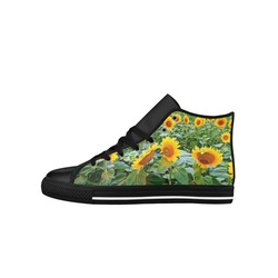 Sunflower Field Aquila High Top Microfiber Leather Men's Shoes (Model 027)