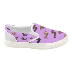 Wiener Parade Women's Slip-on Canvas Shoes (Model 019)