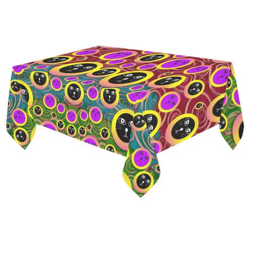 "Big Cats protecting earth in peace Cotton Linen Tablecloth 60""x 84"""