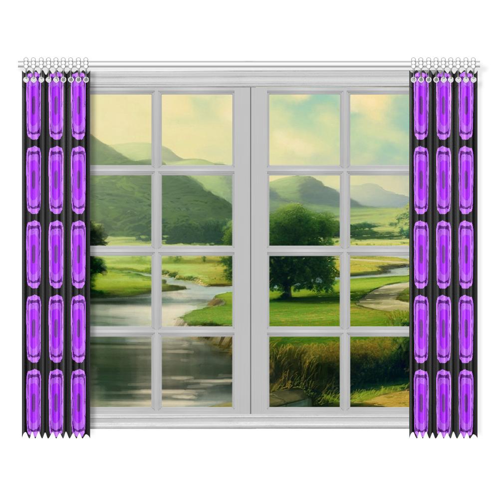 """PURPLE DESTINY Window Curtain 52""""x84""""(Two Pieces)"""